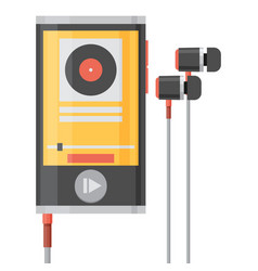 Music player flat style vector