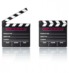 digital movie clapper board vector image