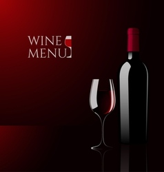 Wine glass and bottle vector