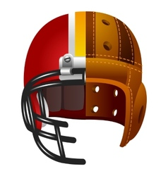 Old and new american football helmet vector