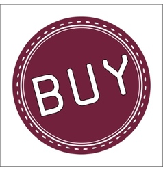 Buy icon badge label or sticke vector