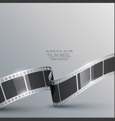 3d film strip realistic background vector image