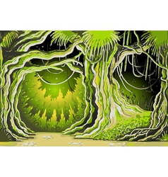 Magic tale forest background vector