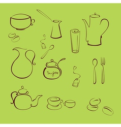 Kitchen utensil design set vector