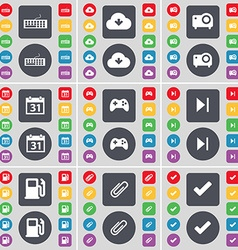 Keyboard cloud projector calendar gamepad media vector