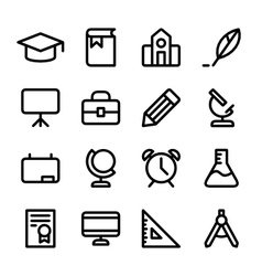 Crisp education icons vector