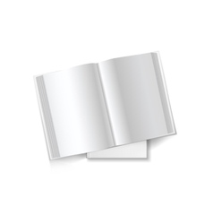 Open book with clean sheets vector