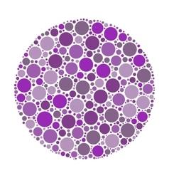 Circle made of dots vector