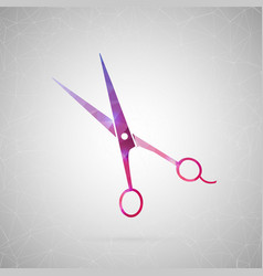 abstract creative concept icon of scissor vector image vector image