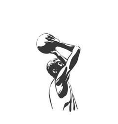 Backetball silhouette vector
