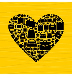 Bag heart vector image