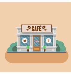 Cafe building flat vector image vector image