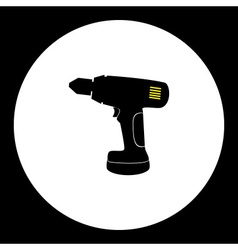cordless electric screwdriver workshop tool vector image