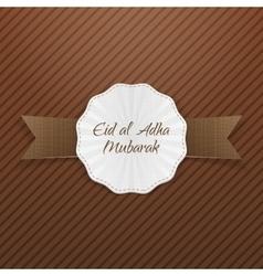 Eid al-adha realistic paper tag vector