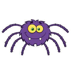 Funny spider cartoon character vector