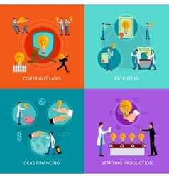 Intellectual property design concept set vector image vector image