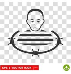 Isolated prisoner eps icon vector