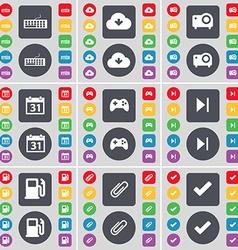 Keyboard Cloud Projector Calendar Gamepad Media vector image vector image