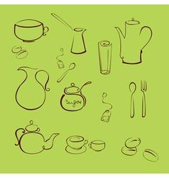 kitchen utensil design set vector image
