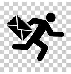 mail courier icon vector image
