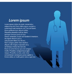 Medical background vector image vector image