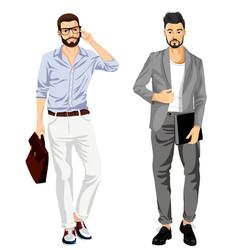 modern fashionable businessmen vector image