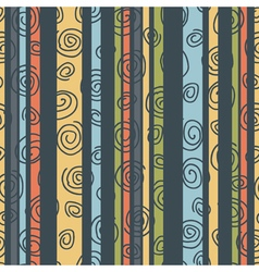 Multicolored striped background with spirals vector