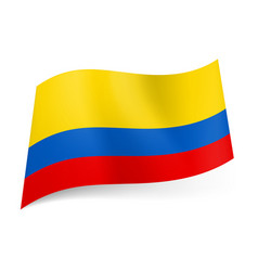 National flag of colombia wide red narrow blue vector