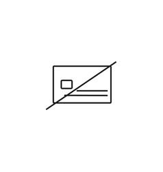 no credit card icon vector image