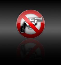 no gun vector image