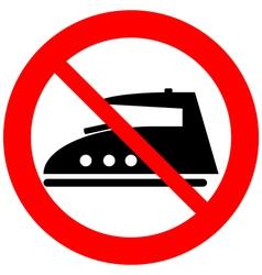 No steam iron icon vector
