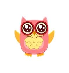 Pink owl wants a hug vector