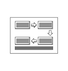 Rectangles and arrows diagram icon vector