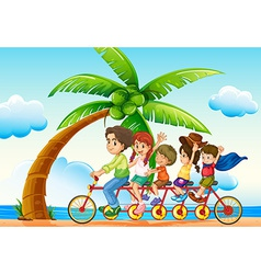 Riding bike vector image vector image