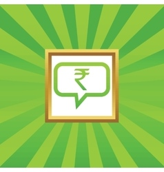 Rupee message picture icon vector