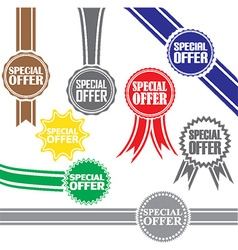 Special offer signs set special offer sticker set vector