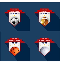 Sports labels badge emblem vector image vector image