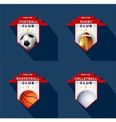 Sports labels badge emblem vector image
