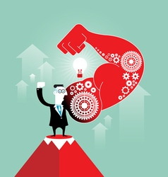 Successful businessman concept vector image vector image