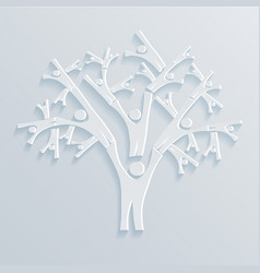 tree of people vector image