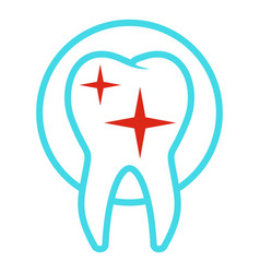 Uneven tooth icon flat style vector