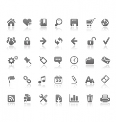 web site and internet icons vector image vector image
