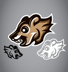 Wild Squirrel head gray logo 2902 vector image vector image