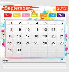 Calendar September 2013 vector image