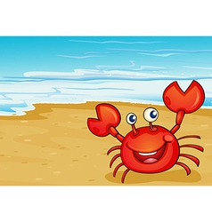 A crab at the seashore vector