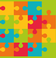 jigsaw puzzle piece vector image