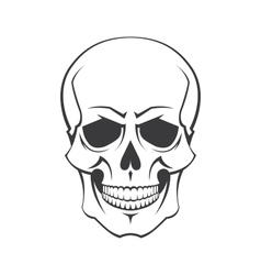 Skull symbol vector