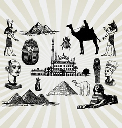 Egyptian set vector