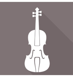 Violin icon music background vector
