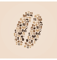 Coffee icons like coffee bean eps10 vector